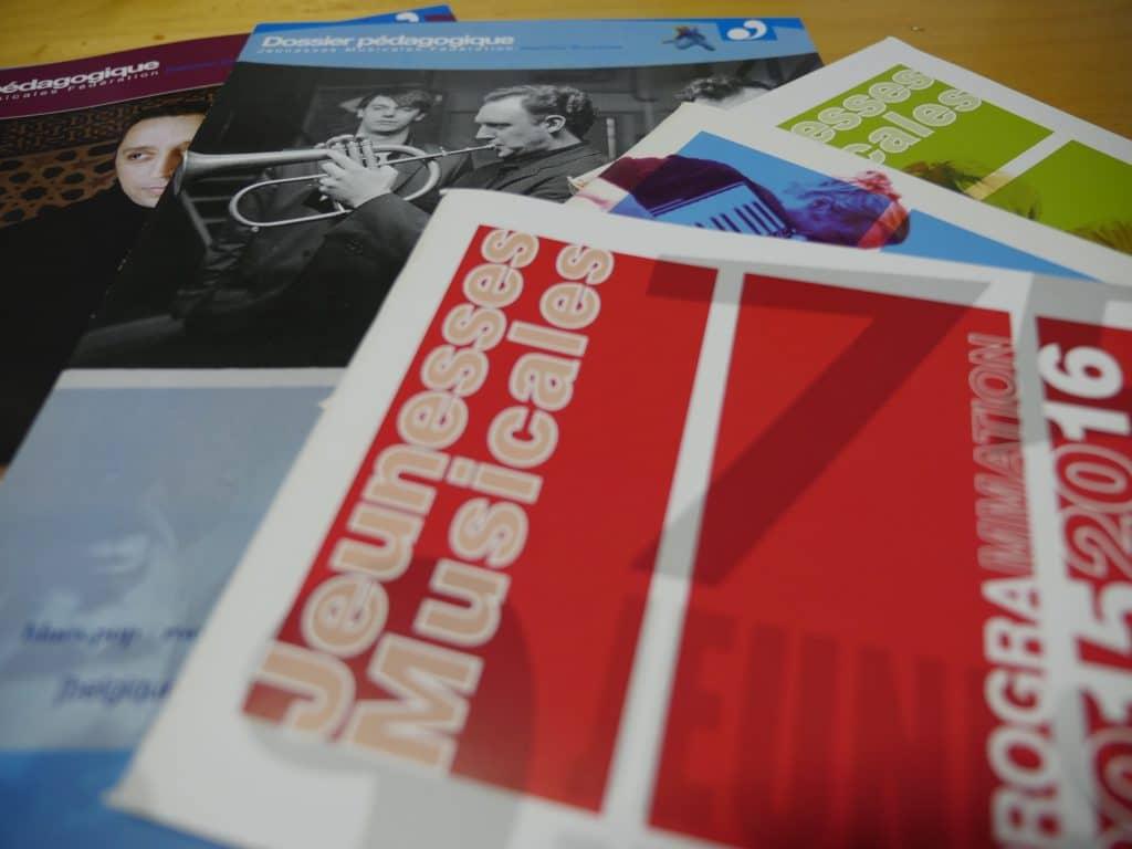 Brochures saisons & Dossiers pédagogiques Jeunesses Musicales